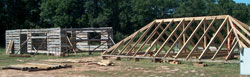 Log Home and Timber Frame Roof Truss